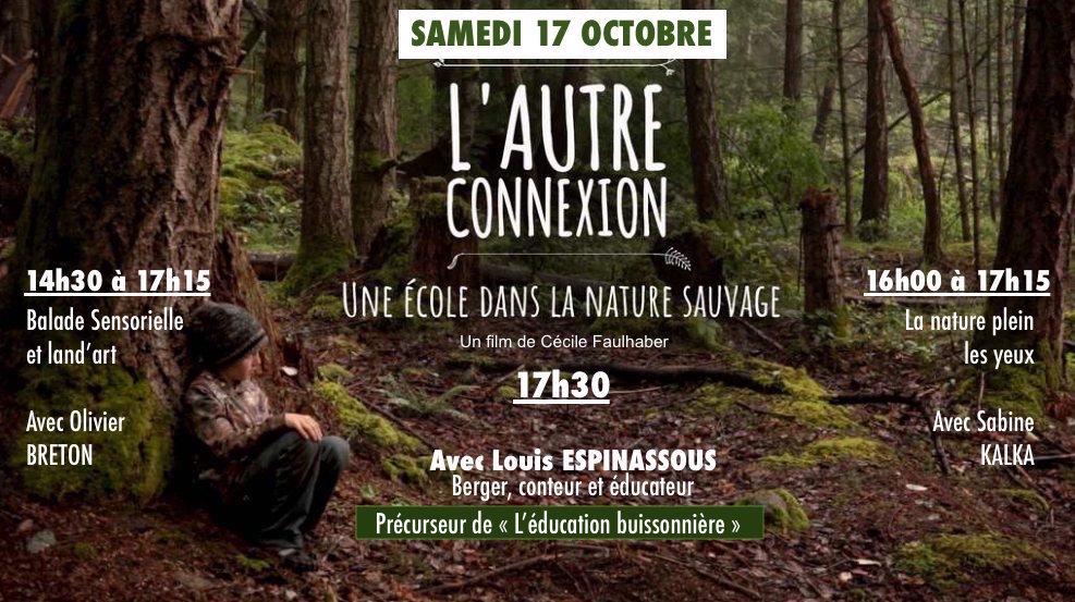 Samedi 17 octobre, une école dans la nature sauvage